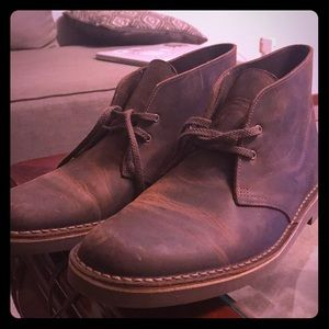 Clarks Brown Leather Shoes Size 11